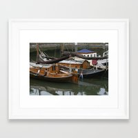 boats Framed Art Prints featuring Boats by constarlation