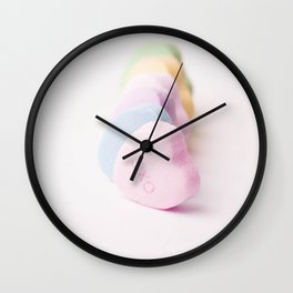 Sending Love - Candy Hearts  Wall Clock