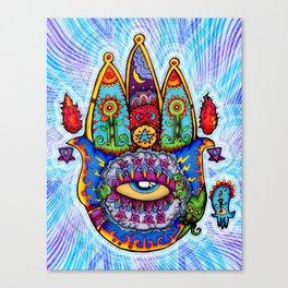 Hamsa Hand Of Fatima Canvas Print