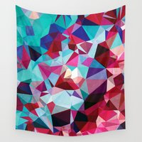 polygon Wall Tapestries featuring Polygon Pattern by Ana Pontes