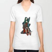 doll V-neck T-shirts featuring Doll by Viktor Macháček
