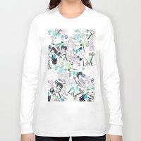 cartoon Long Sleeve T-shirts featuring Cartoon Pattern by Eduardo Doreni