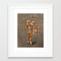 soldier Framed Art Prints featuring Soldier by Pedro Hamdan