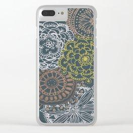 Metallic Mandalas Clear iPhone Case