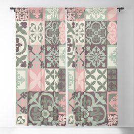 Hand Painted Patchwork Blackout Curtain