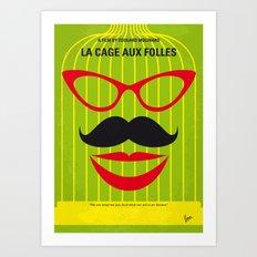 No473 My La cage aux folles minimal movie poster Art Print