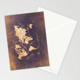 world map 144 mistery #worldmap #map Stationery Cards