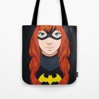 batgirl Tote Bags featuring Batgirl by SoLaNgE-scf
