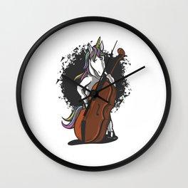 Einhorn-Cellospieler | Orchester-Geschenk Wall Clock