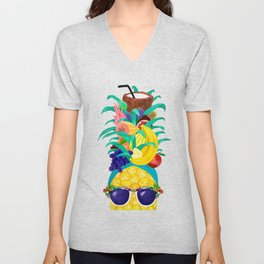 Chiquita Pineapple Unisex V-Neck
