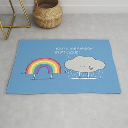 You're the rainbow in my cloud! Rug