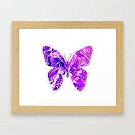 Fluid Butterfly (Violet Version) Framed Art Print