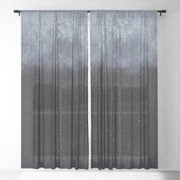 Blue veiled moon Sheer Curtain