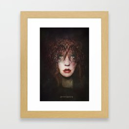 The fragile Queen Framed Art Print
