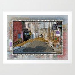 CONSTRUCTION SITE POKHARA NEPAL Art Print