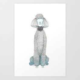 Weird poodles - don't worry, be happy Art Print
