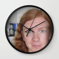 stevie nicks Wall Clocks featuring Guice Mann In Nicks Kitchen 1 by Guice Mann