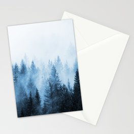 Misty Winter Forest Stationery Cards