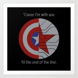 Stucky Shields (With Quote) Art Print