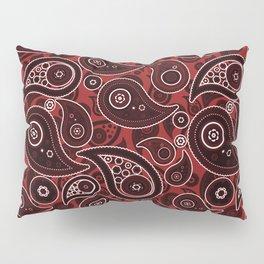 Sangria Red Paisley Pattern Pillow Sham