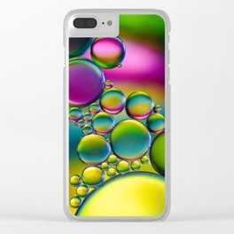 """""""Spherical Joining"""" - Oil and Water Clear iPhone Case"""