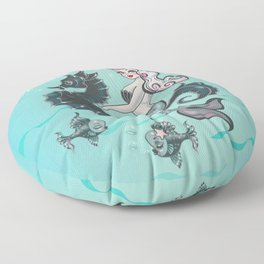 Pearla on Seahorse Floor Pillow