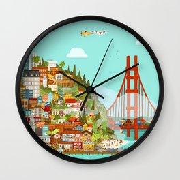 City by the Bay Wall Clock