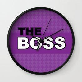The Boss - Laura Wayne Design Wall Clock