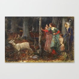 John William Waterhouse - The mystic wood Canvas Print