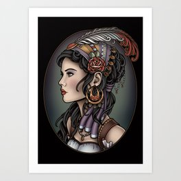 Gypsy Profile Art Print