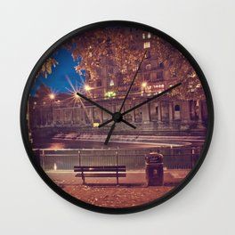 Night Time in the Park  Wall Clock