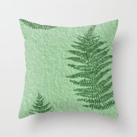 fern Throw Pillows featuring Fern by Mr and Mrs Quirynen