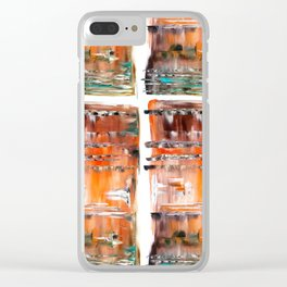 Autumn Cross Clear iPhone Case