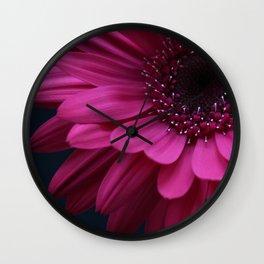 Bright Pink Gerbera Wall Clock