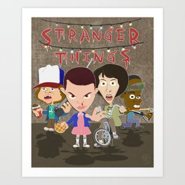 STRANGER THINGSS Art Print