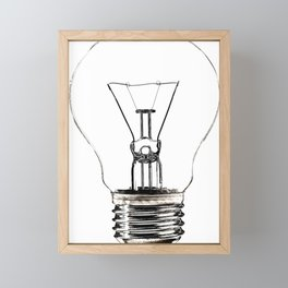 I Have an Idea!  Let there be light... Framed Mini Art Print