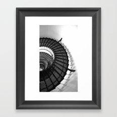 Spiral Stairs Framed Art Print