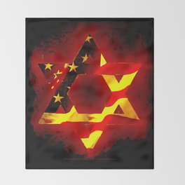 UNITED STATE OF ISREAL 011 Throw Blanket