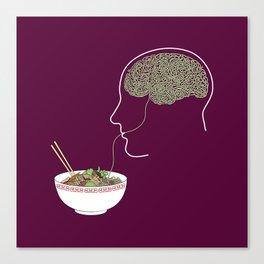Noodle Brain Canvas Print