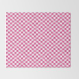 Pink Roses in Anzures 1 Gingham 1 Throw Blanket
