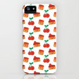 Cherry, Cake and Jam on Toast iPhone Case