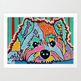 Cotton Candy Designer Dog Series Puppy Pet Westie Westy West Highland Terrier Scottish Cairn Norfolk Art Print