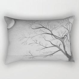 Tree Moon Light Rectangular Pillow