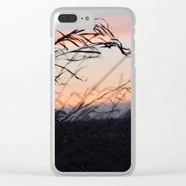 Sunset Field Clear iPhone Case