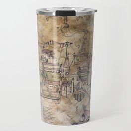 Hogwarts Map Travel Mug