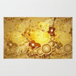Golden disco ball Rug