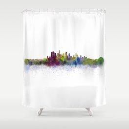 Los Angeles City Skyline HQ v3 Shower Curtain