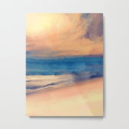 Approaching Sunset Abstract Seascape Metal Print