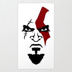 Kratos Face Art Print