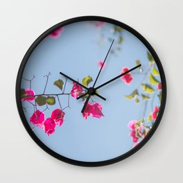 Bougainvillea Wall Clock